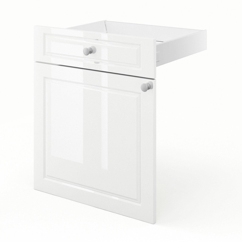 Porte et tiroir de cuisine blanc chelsea x x p for Porte 60 x 180