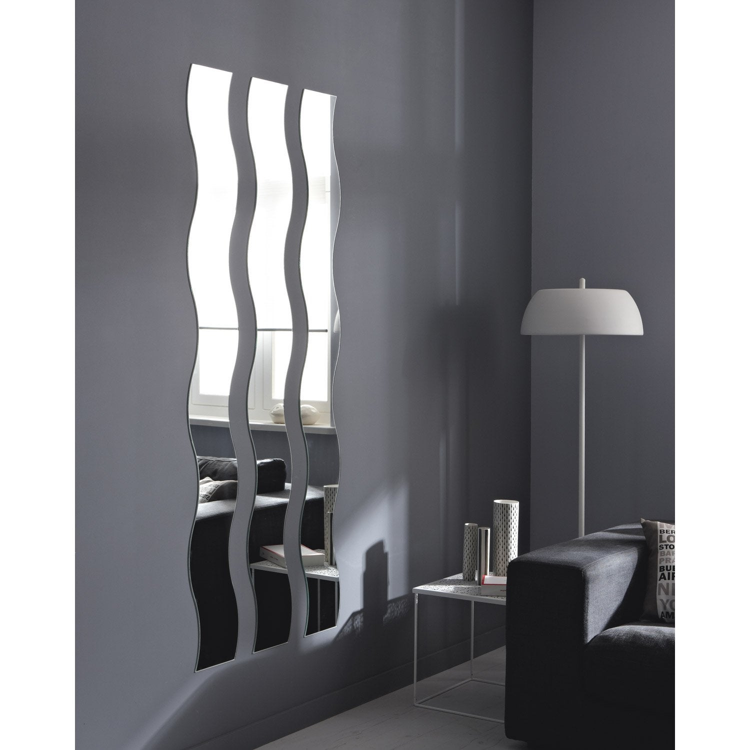 miroir non lumineux d coup vague x cm vague leroy merlin. Black Bedroom Furniture Sets. Home Design Ideas
