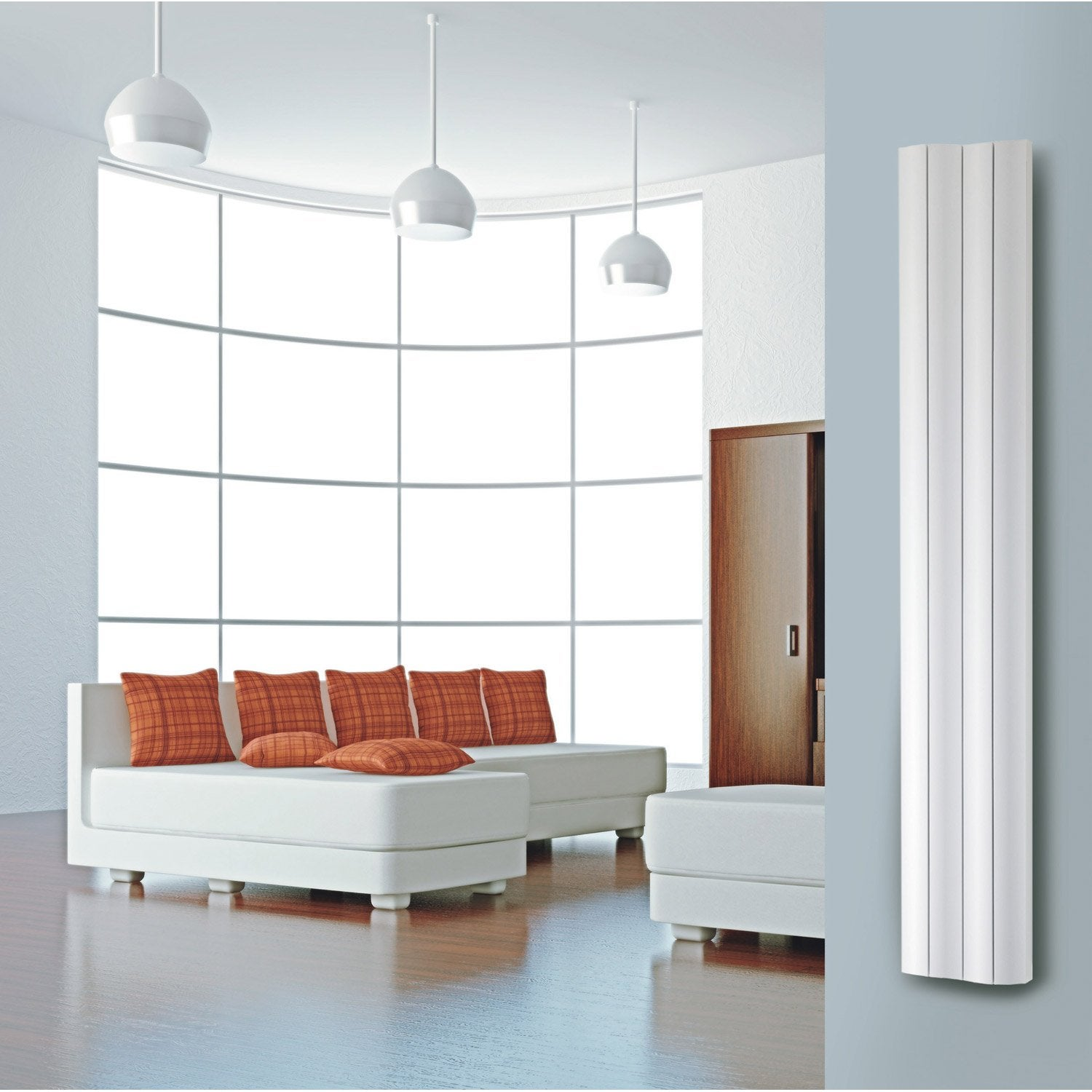 radiateur chauffage central double face blanc mat. Black Bedroom Furniture Sets. Home Design Ideas