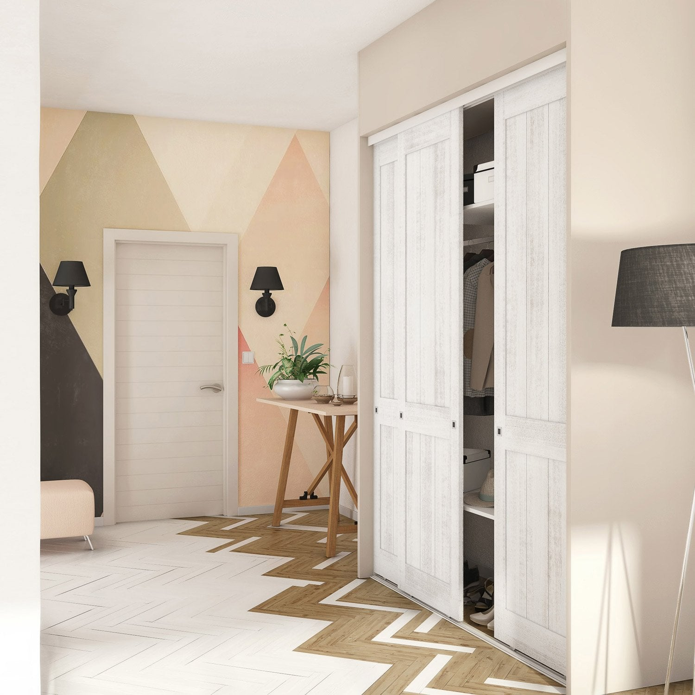 porte coulissante chene maison design. Black Bedroom Furniture Sets. Home Design Ideas