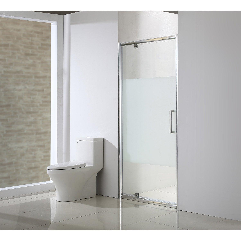 Porte de douche pivotante l 100 5 cm verre s rigraphi - Leroy merlin porte de douche ...
