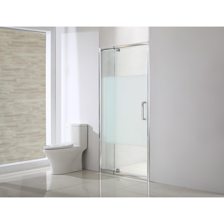 Porte de douche pivotante 122 cm s rigraphi quad - Leroy merlin porte de douche ...