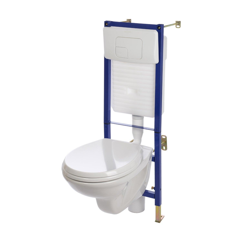 Pack WC suspendu bâti mur Nerea 2 | Leroy Merlin