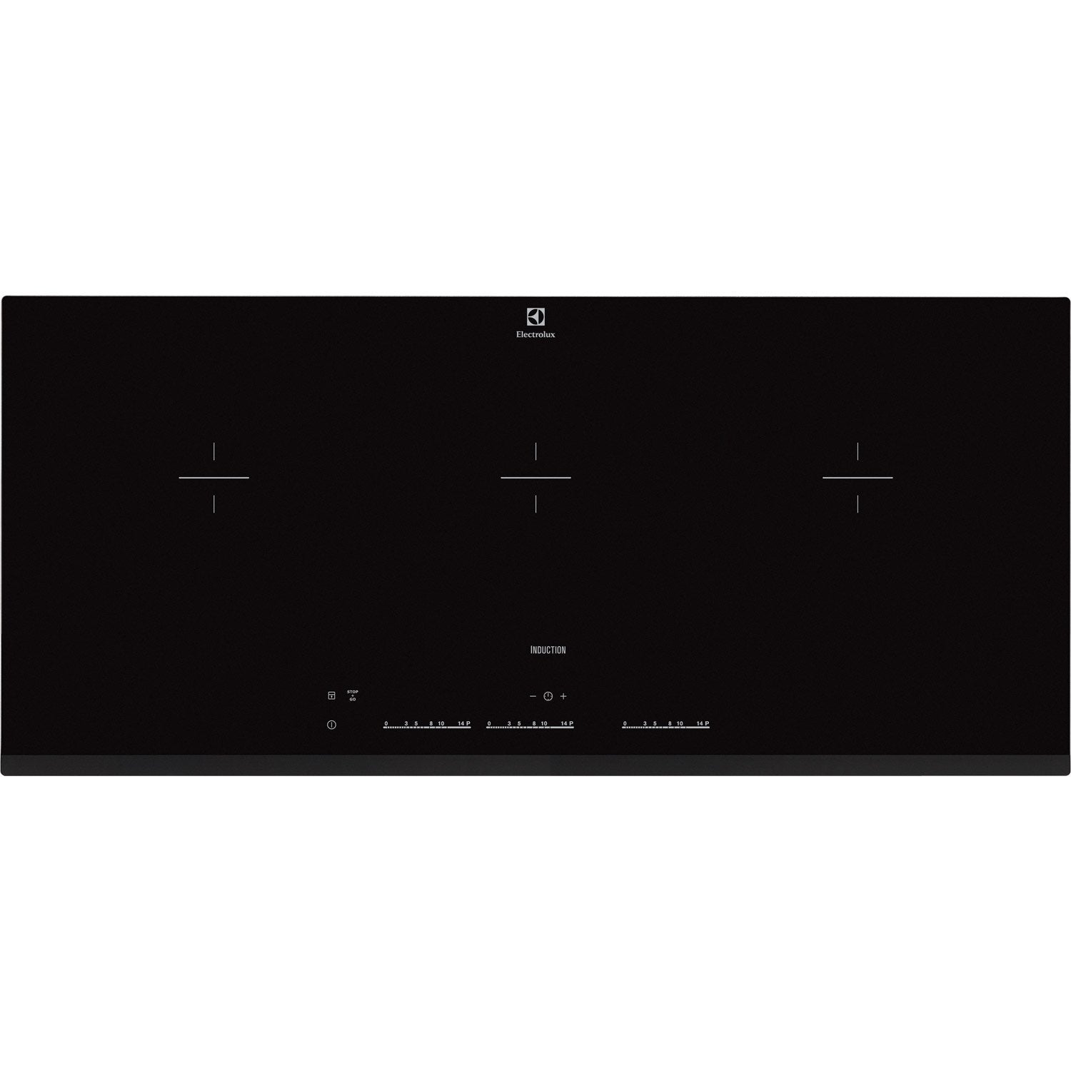 Plaque induction 3 foyers noir electrolux ehl9530fok - Table induction blanche 3 foyers ...