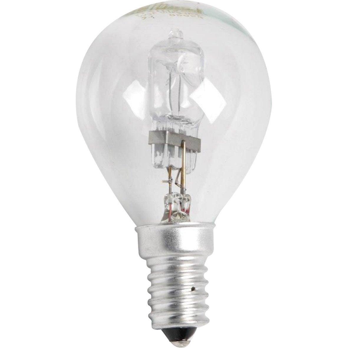Ampoule Spherique Halogene Eco 30w Lexman E 14 Lumiere Chaude Env