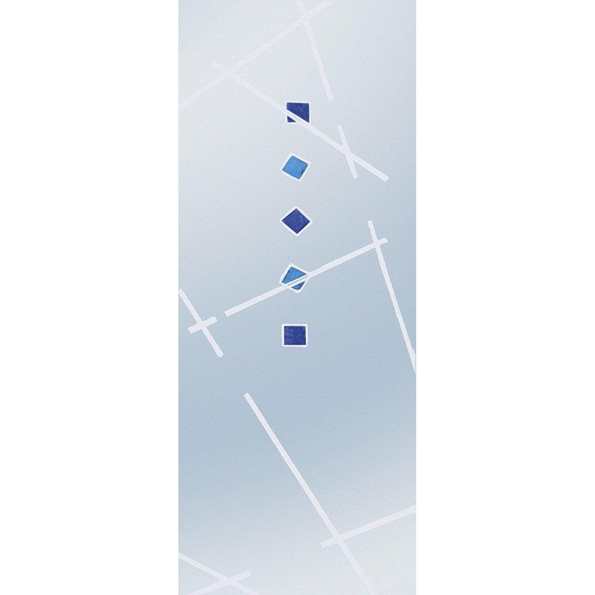 Porte coulissante verre tremp fusion eclisse 211 x 73 cm - Porte verre coulissante leroy merlin ...