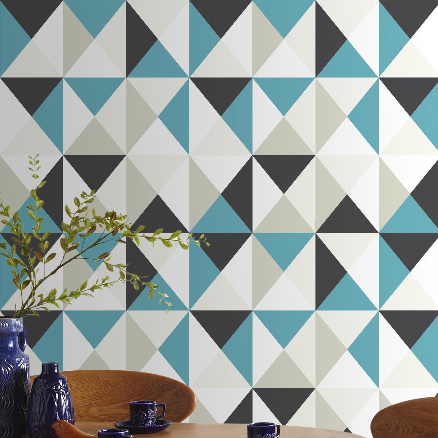 Papier peint intiss polygone bleu leroy merlin - Gazon en rouleau leroy merlin ...