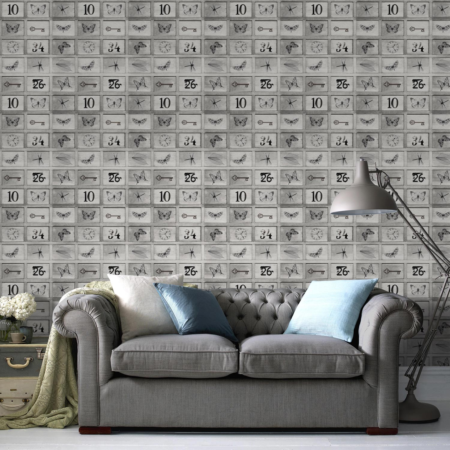 Can I Put Wallpaper On Top Of Wallpaper: Papier Peint Intissé Curiosité Taupe