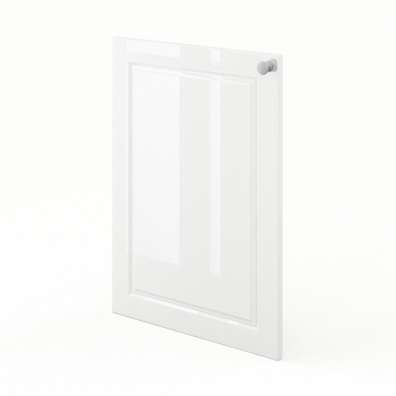Porte de cuisine blanc chelsea x cm leroy merlin for Porte 70 cm de large