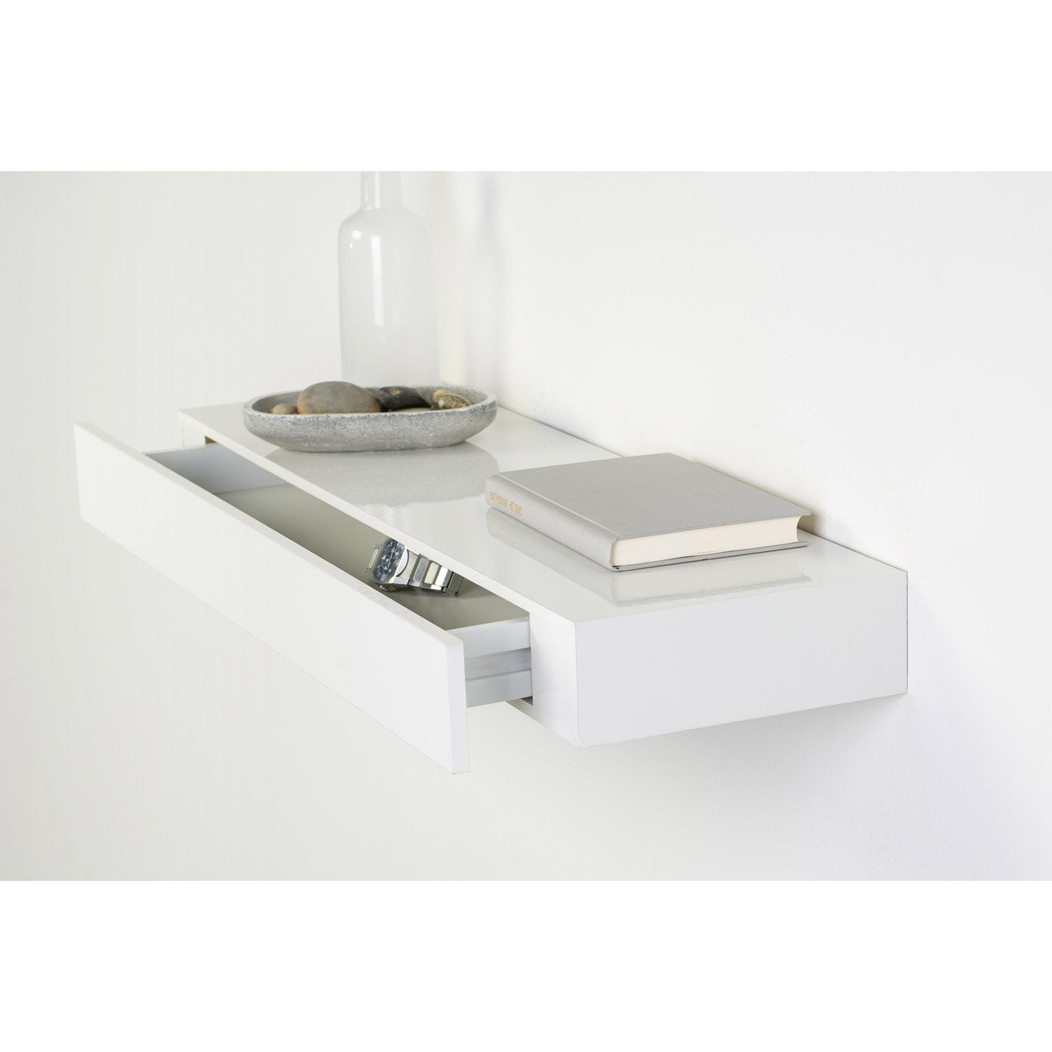 Etag re tiroir blanc l 40 x p 25 cm mm leroy merlin for Tiroir angle cuisine
