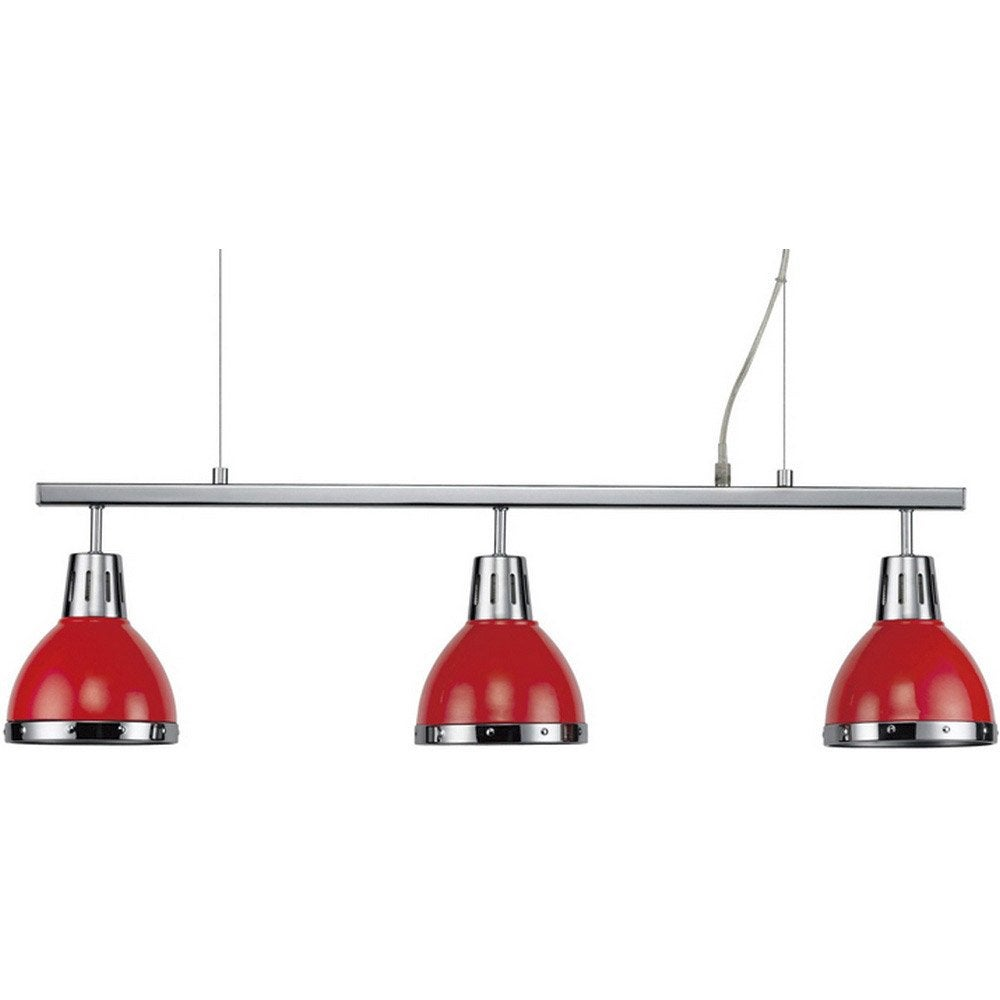 Suspension cynthia seynave rouge 3x60 watts diam 80 cm for Suspension cuisine leroy merlin