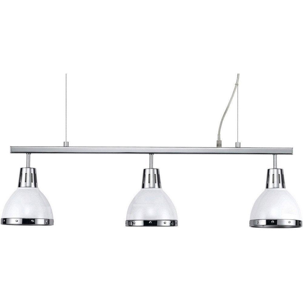suspension e27 moderne cynthia m tal blanc 3 x 40 w seynave leroy merlin. Black Bedroom Furniture Sets. Home Design Ideas