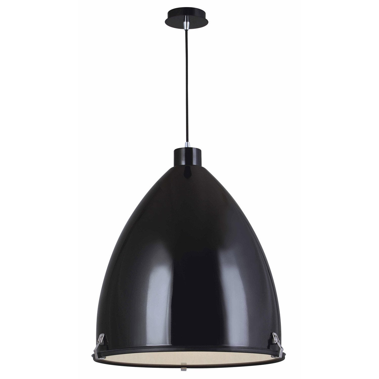Suspension industriel loft m tal noir 1 x 60 w lucide - Suspension industrielle leroy merlin ...