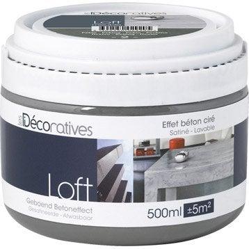 Peinture effet loft meuble les decoratives rio 0 5 l for Loft beton cire leroy merlin