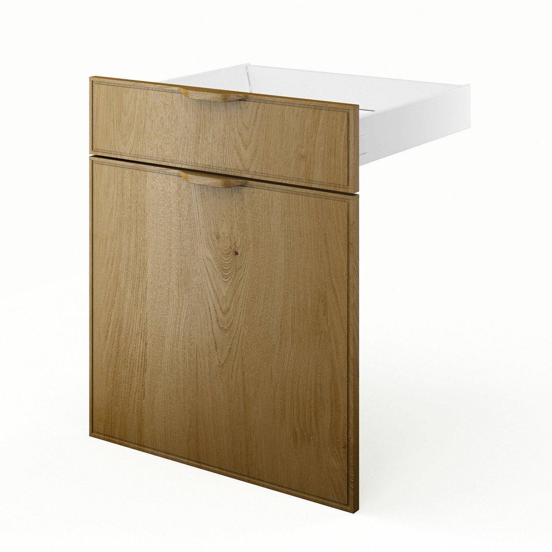 Porte et tiroir de cuisine ch ne origine x x p for Porte 60 x 50