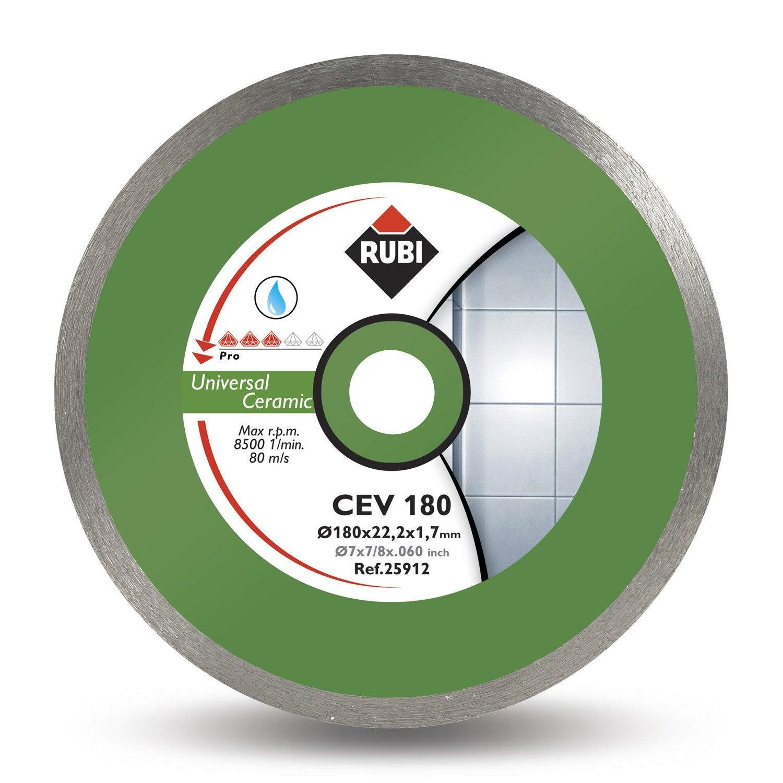 disque coupe 224 eau c 233 ramique rubi cev 180 pro 180 mm leroy merlin
