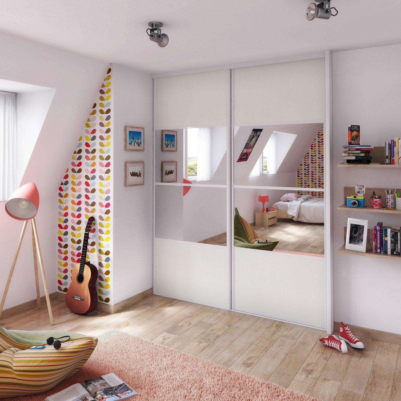Porte De Placard Coulissante Castorama Sur Mesure Maison Design - Porte placard coulissante avec porte seule