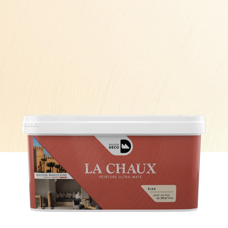 Peinture effet la chaux maison marocaine maison deco riad 2 5 l leroy - Enduit chaux leroy merlin ...