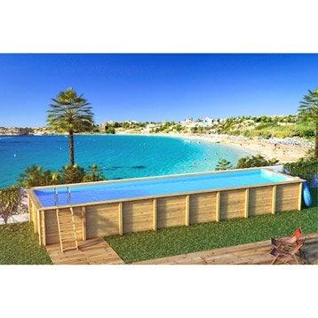 Cerland piscine bois odyssea cerland 1050x550x146 liner for Liner piscine hors sol leroy merlin