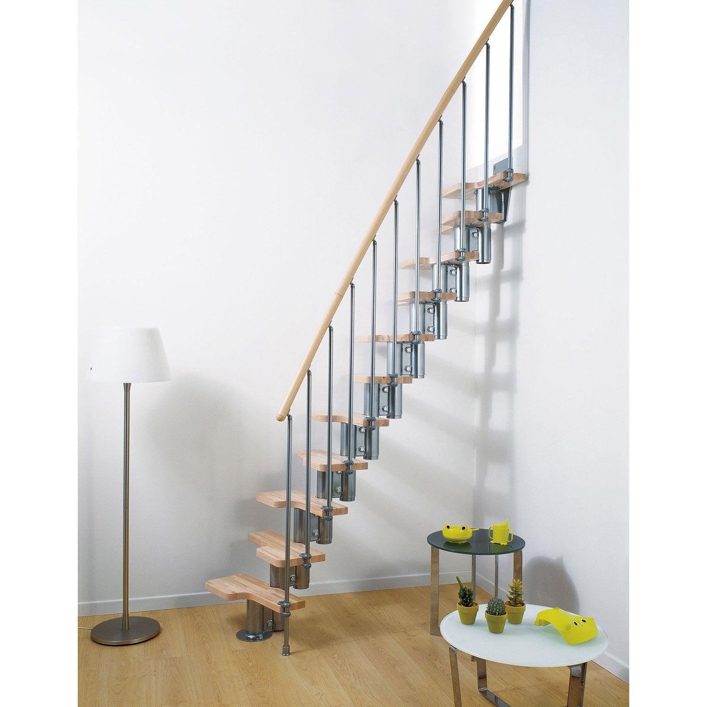 Garde corps pour escalier mini chrom en bois clair pixima for Led escalier leroy merlin