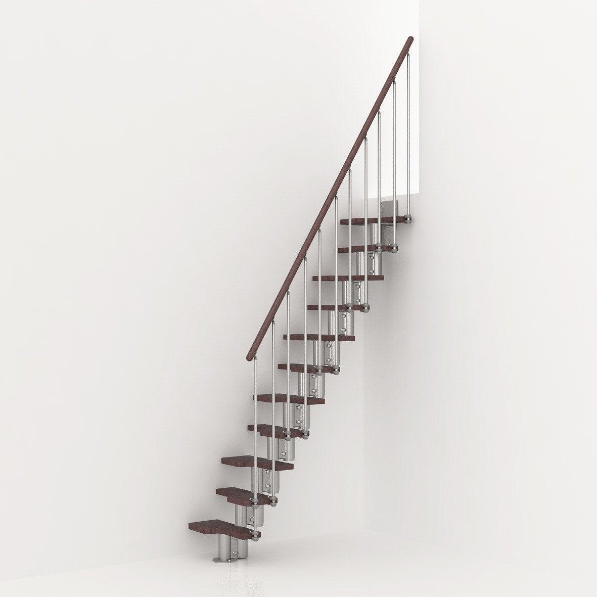 Garde corps pour escalier mini chrom en bois fonc pixima leroy merlin - Garde corps escalier interieur leroy merlin ...