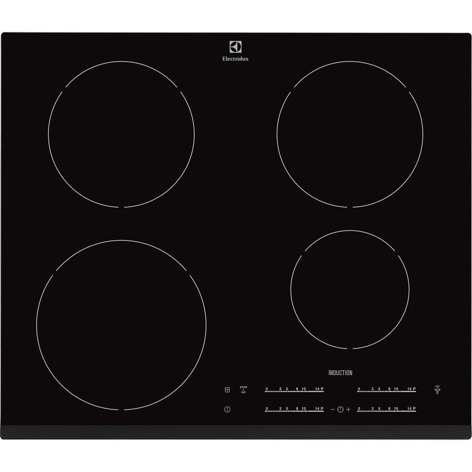 Plaque induction 4 foyers noir electrolux ehh6540f8k - Plaque induction 4 feux ...