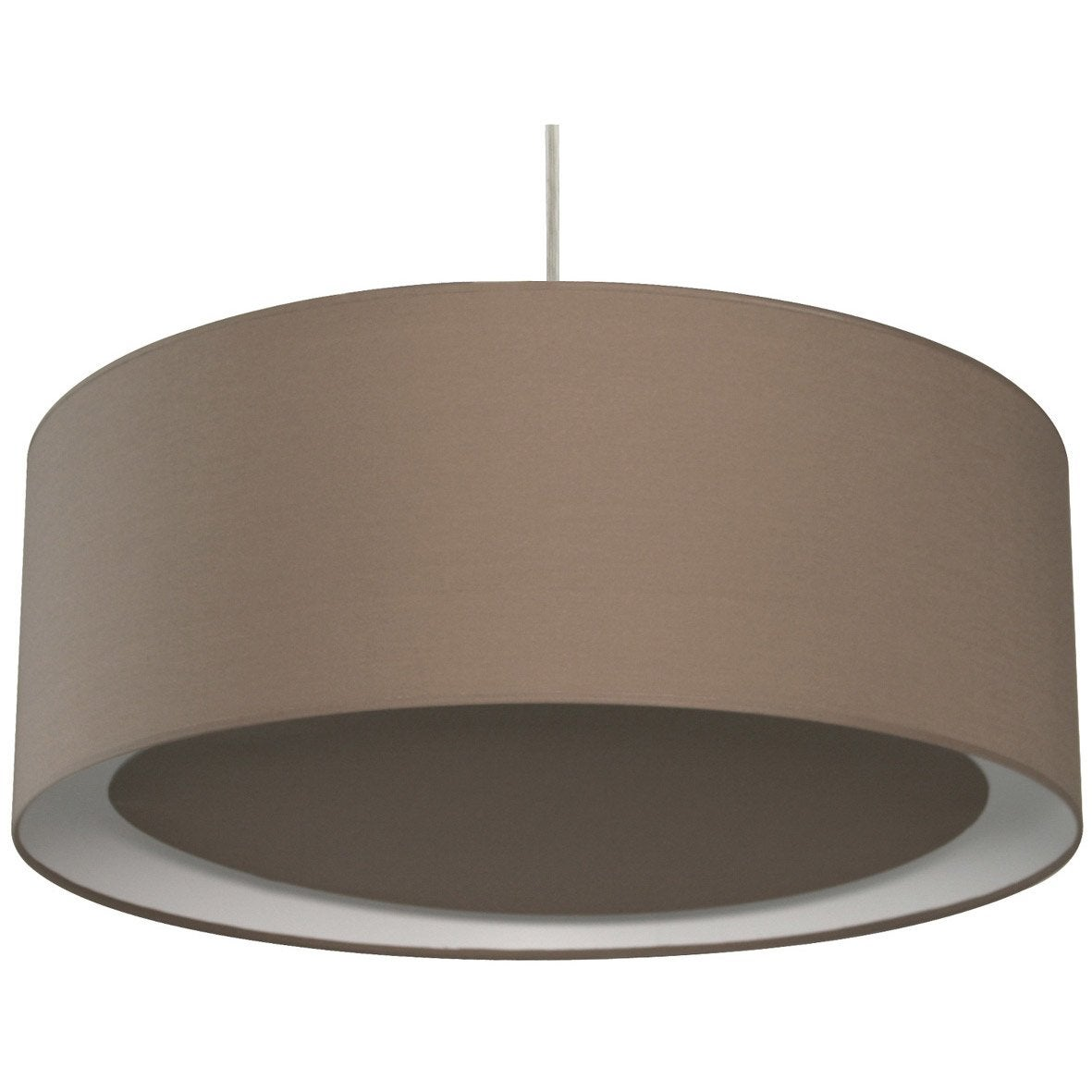 Suspension contemporain essentiel coton brun taupe n 3 1 x for Suspension contemporaine salon