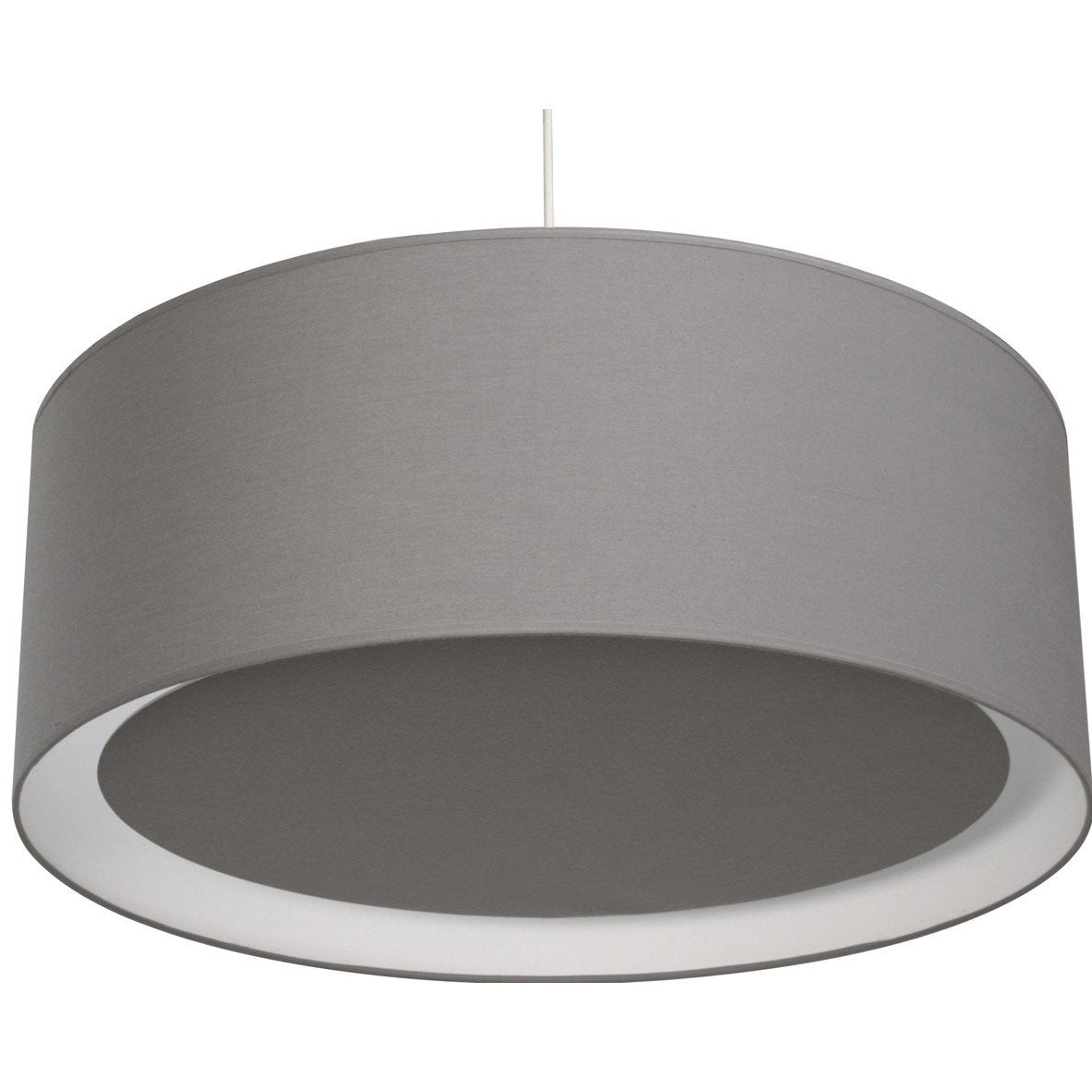 Suspension contemporain essentiel coton gris galet n 3 1 x 60 w inspire ler - Suspensions leroy merlin ...