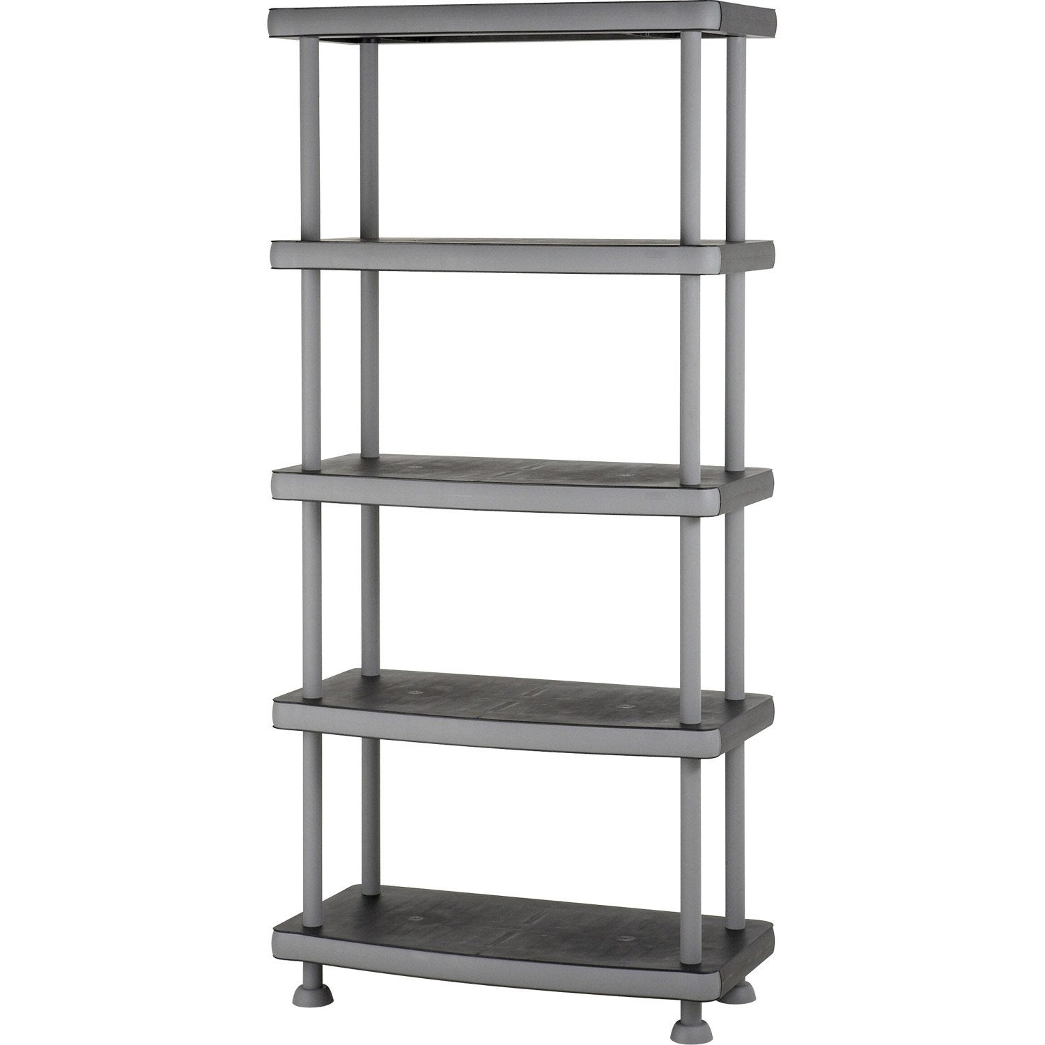 Etag re r sine 5 tablettes noir l90xh185xp45 cm leroy - Etagere modulable leroy merlin ...