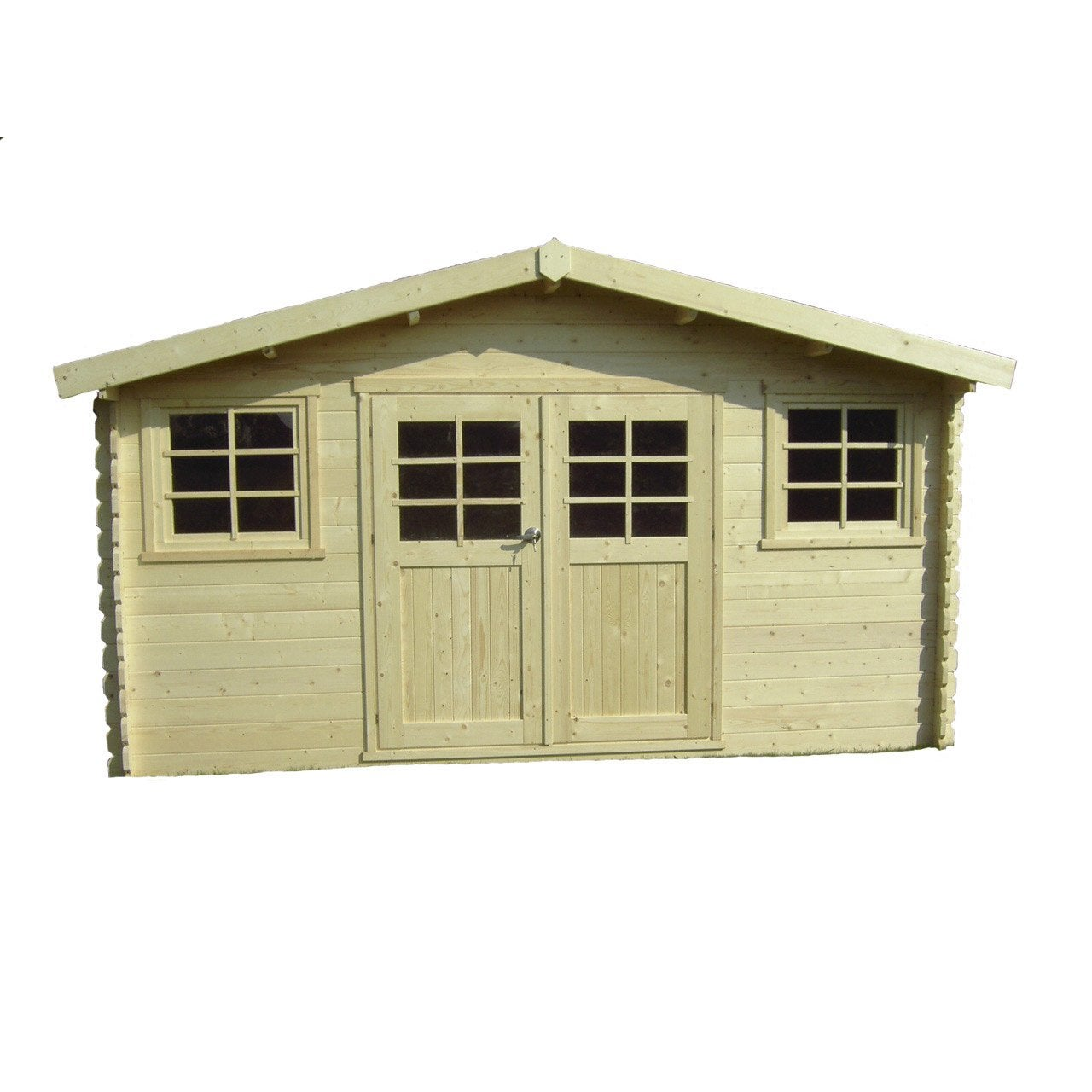 Abri de jardin en bois zurich m p 28 mm leroy - Leroy merlin cabane de jardin ...
