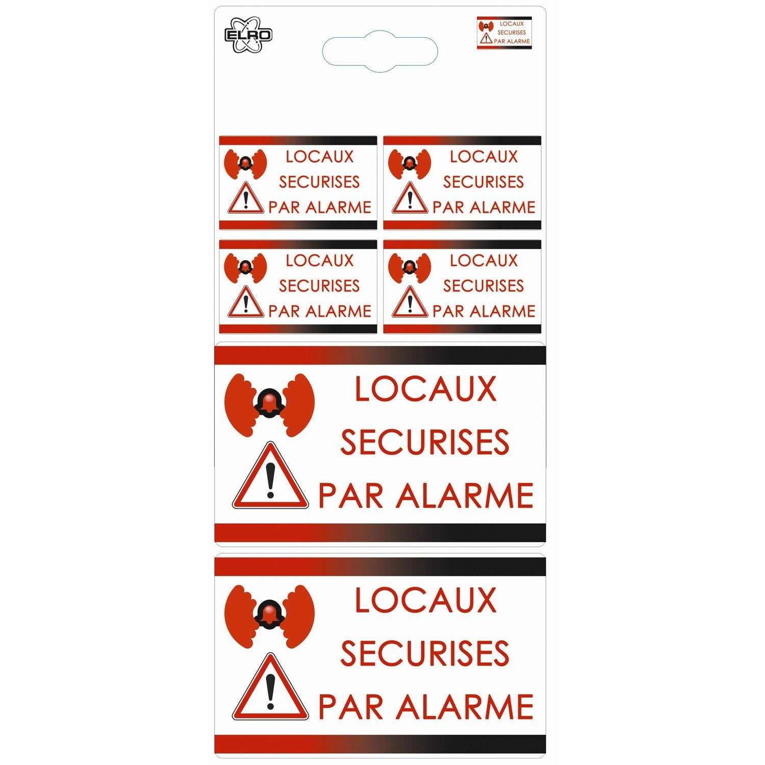 Autocollants surveillance alarme blanc rouge leroy merlin - Camera factice leroy merlin ...