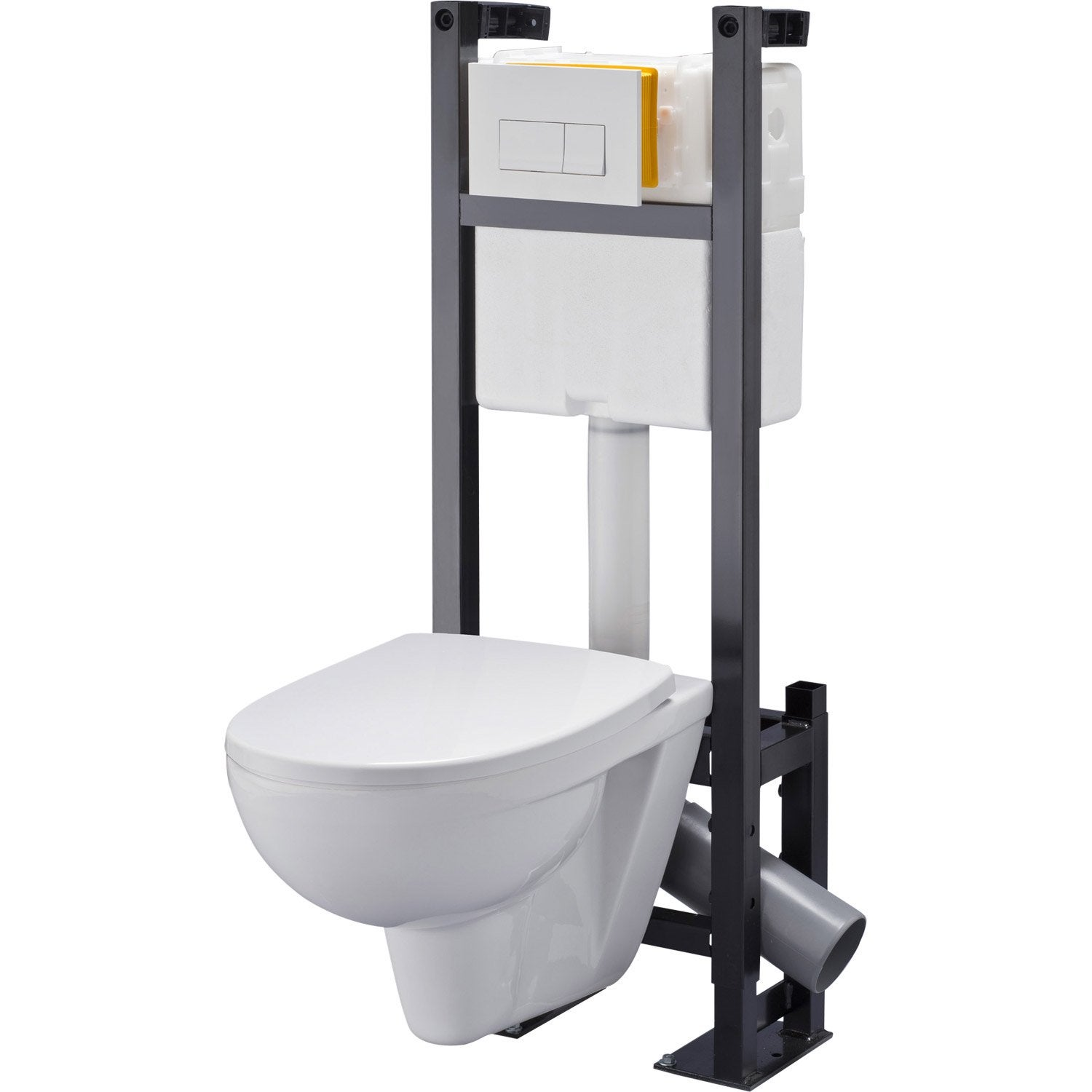 Pack wc suspendu b ti universel club design 4 pieds leroy merlin - Pack toilette suspendu ...