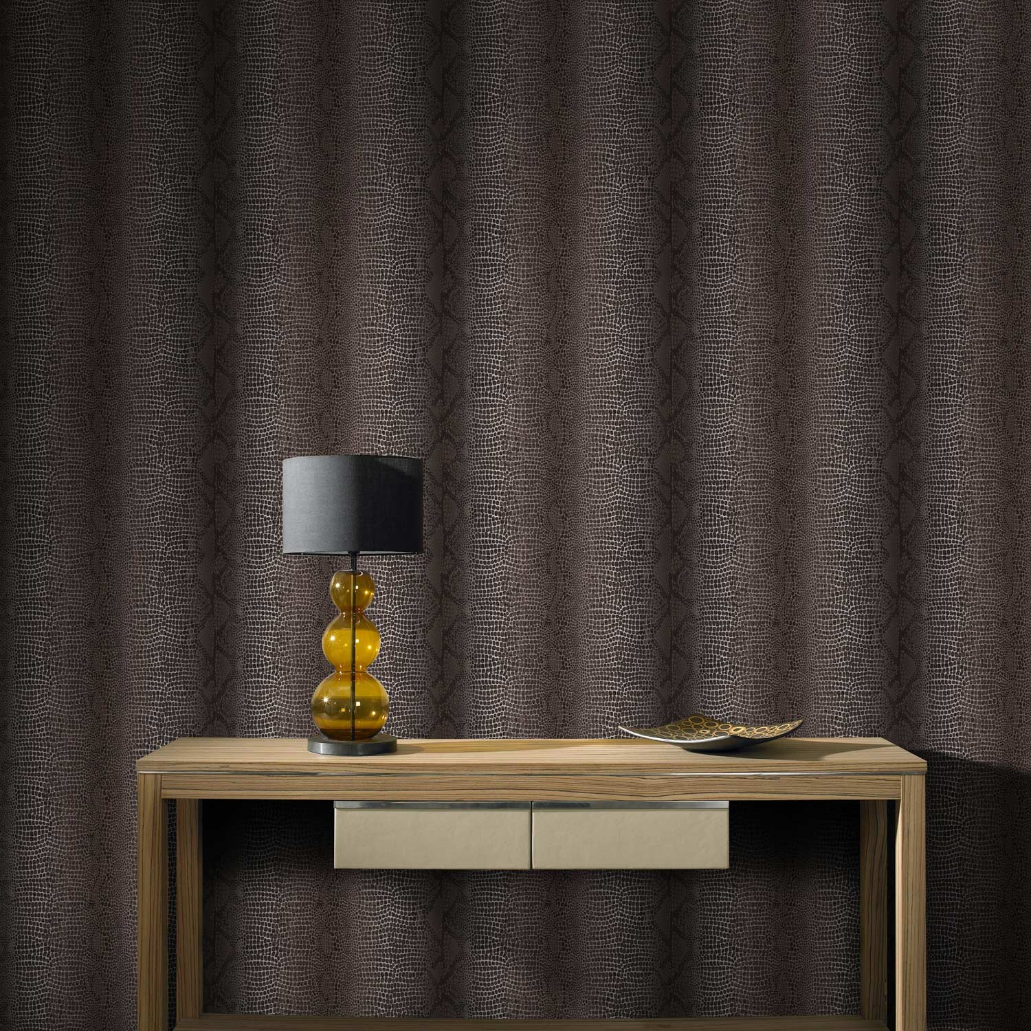 papier peint vinyle sur intiss python marron leroy merlin. Black Bedroom Furniture Sets. Home Design Ideas