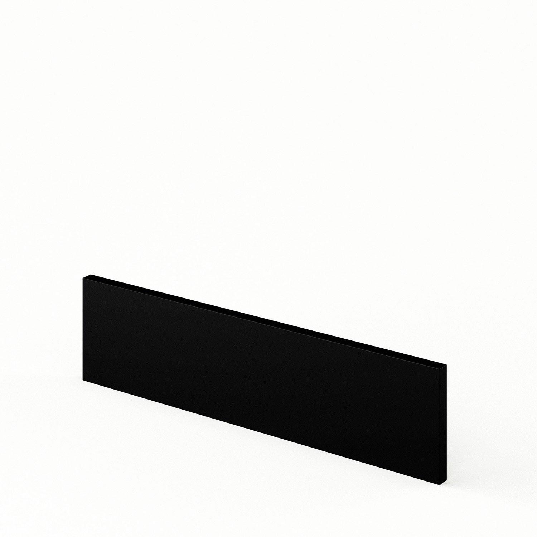 bandeau four de cuisine noir o60 15 mat edition l60 x h15 cm leroy merlin. Black Bedroom Furniture Sets. Home Design Ideas