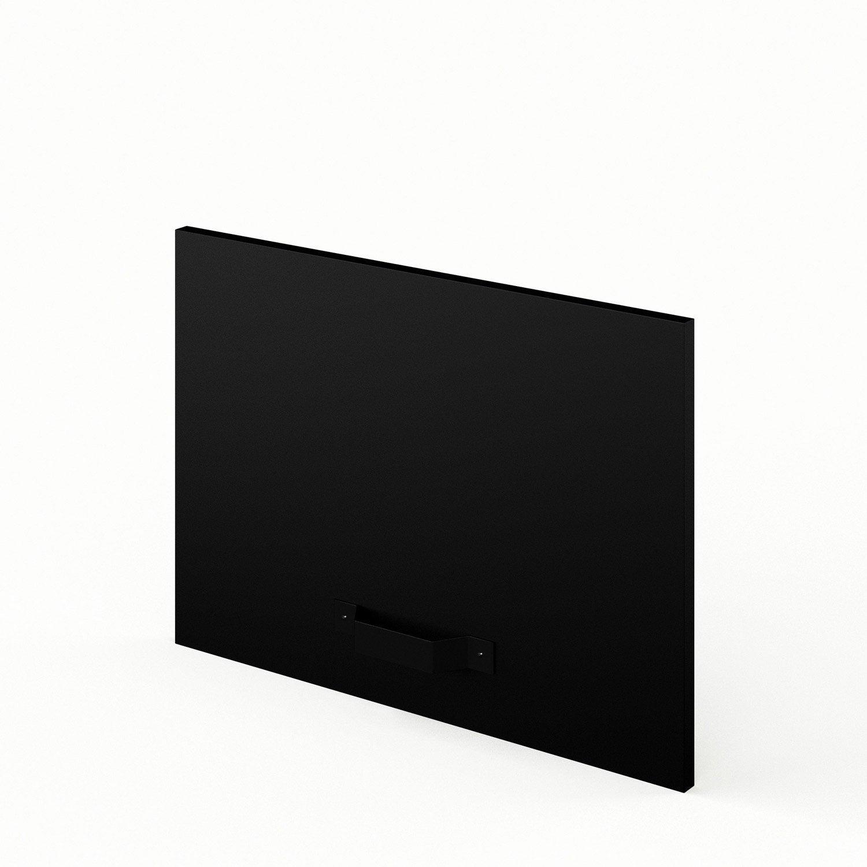 porte sur hotte de cuisine noir mat edition x cm leroy merlin. Black Bedroom Furniture Sets. Home Design Ideas