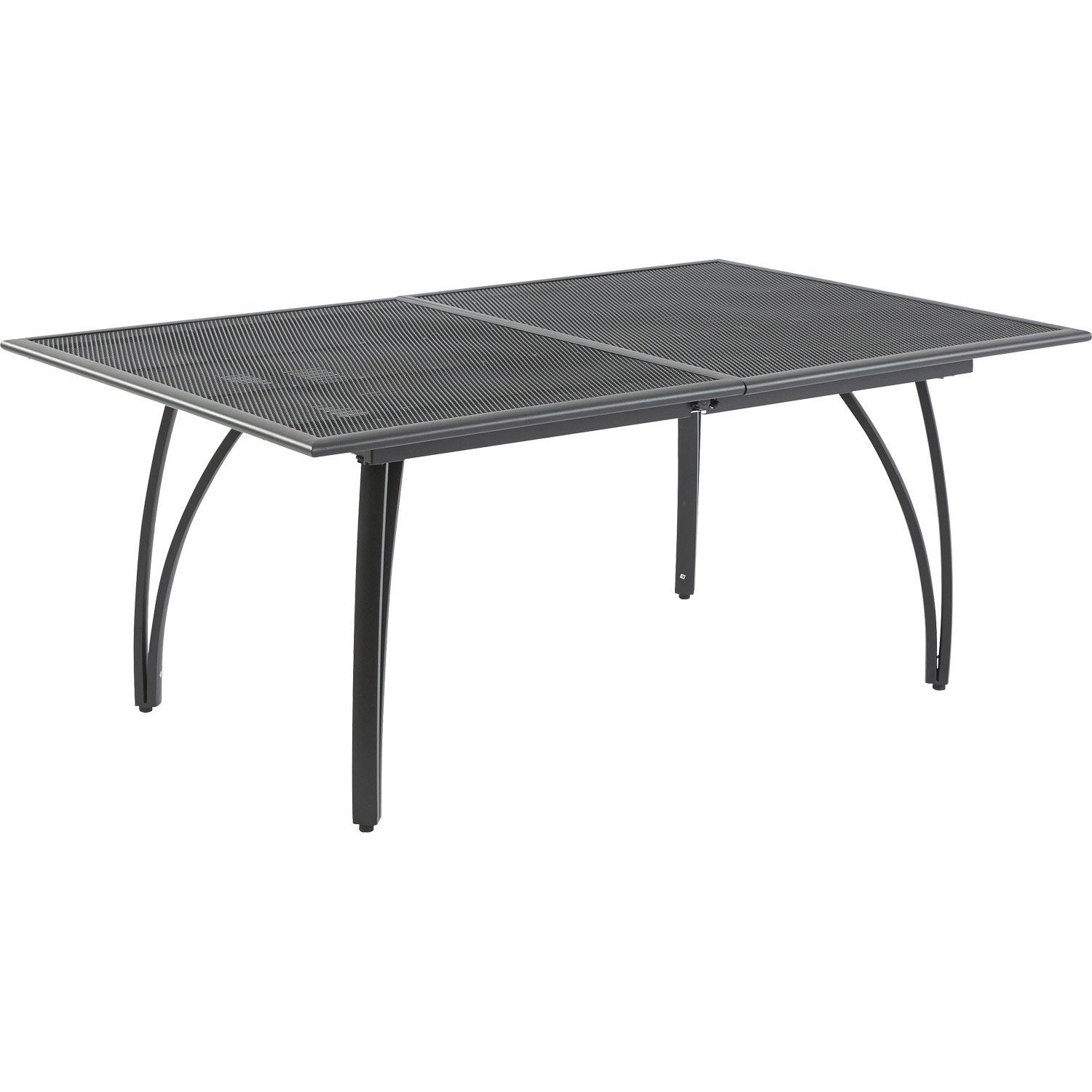 Table de jardin rectangulaire gris 10 personnes leroy merlin for Table exterieur 10 personnes