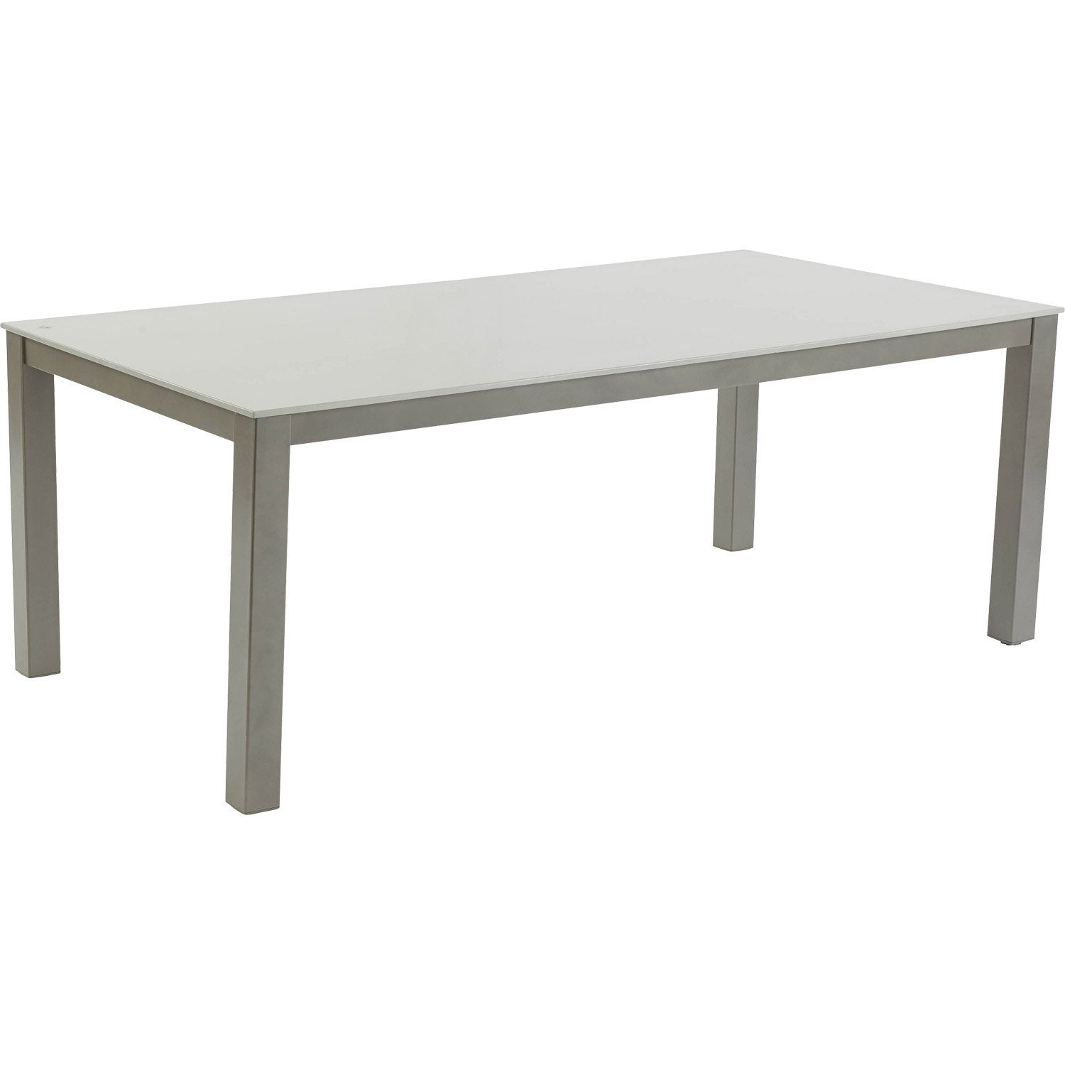 table de jardin rectangulaire table 200x100cm alu durantie