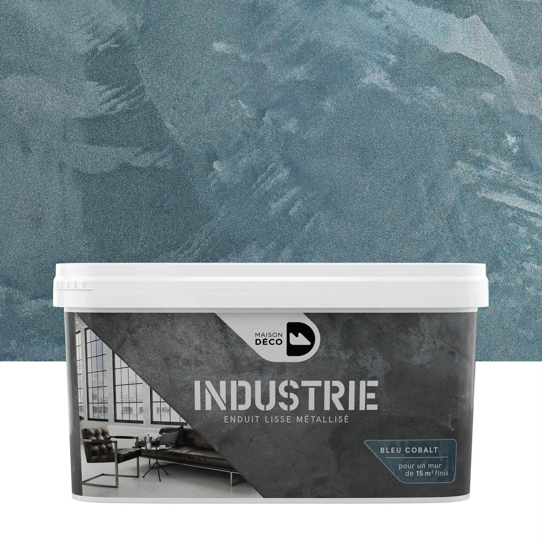 peinture effet industrie maison deco cobalt 4 kg leroy merlin. Black Bedroom Furniture Sets. Home Design Ideas