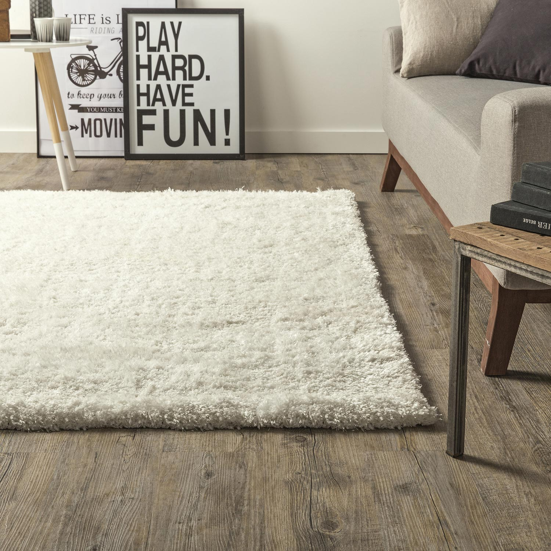 tapis ecru shaggy stylus x cm leroy merlin. Black Bedroom Furniture Sets. Home Design Ideas