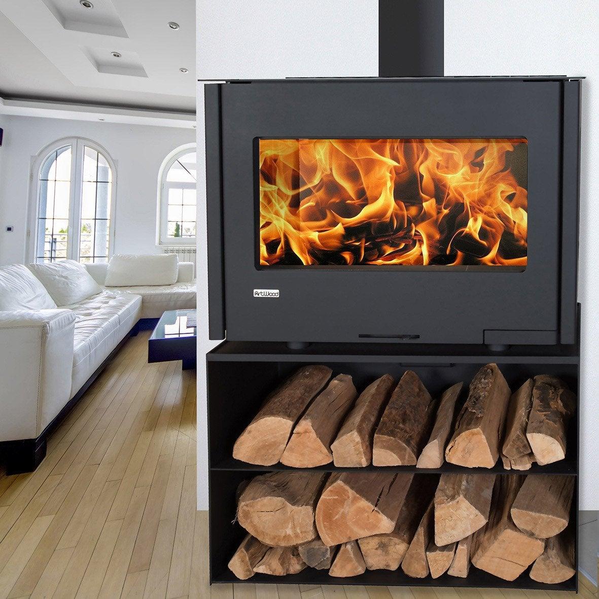 po le bois artwood bbc muro 2 pack 8 kw leroy merlin. Black Bedroom Furniture Sets. Home Design Ideas
