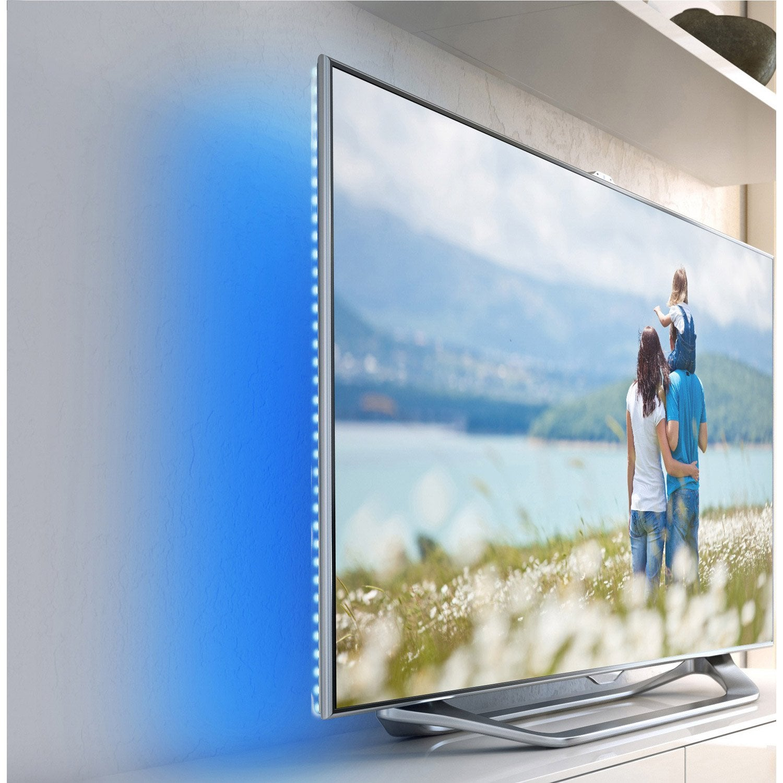 ruban led tv 2 x bleu inspire leroy merlin. Black Bedroom Furniture Sets. Home Design Ideas