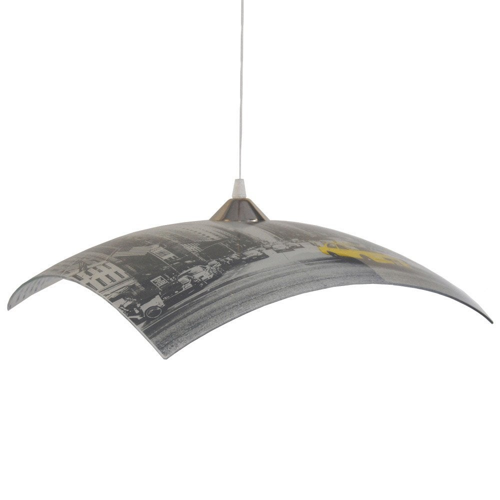 Suspension city new york verre gris et jaune 1 x 40 w seynave leroy merlin - Suspension new york leroy merlin ...