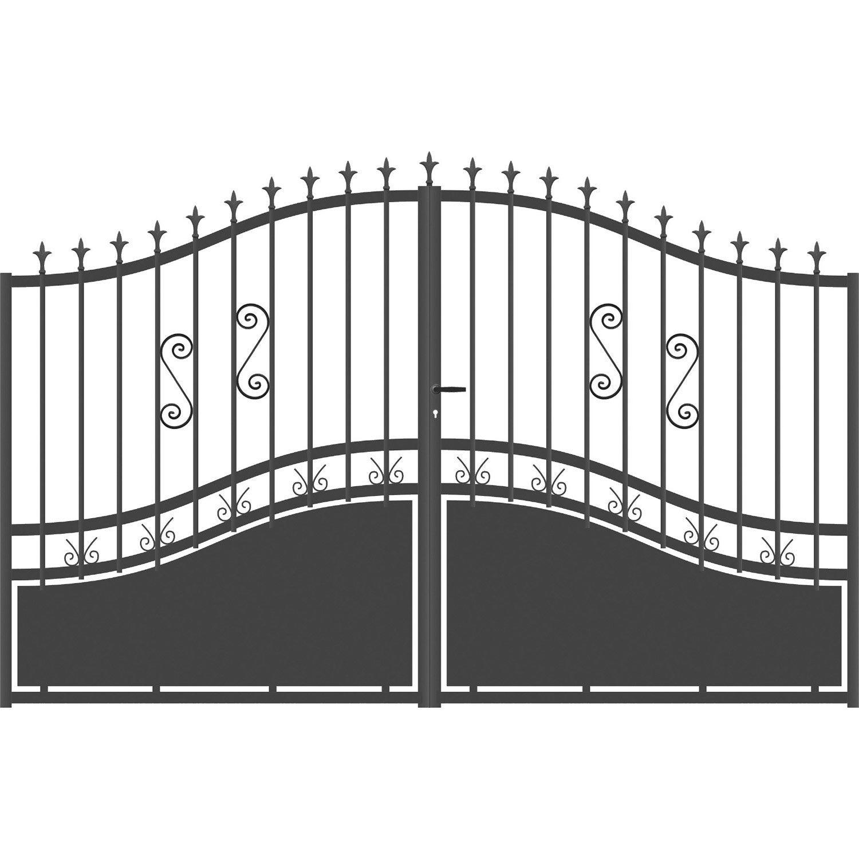 portail battant aluminium olympia gris anthracite cm cm leroy merlin. Black Bedroom Furniture Sets. Home Design Ideas