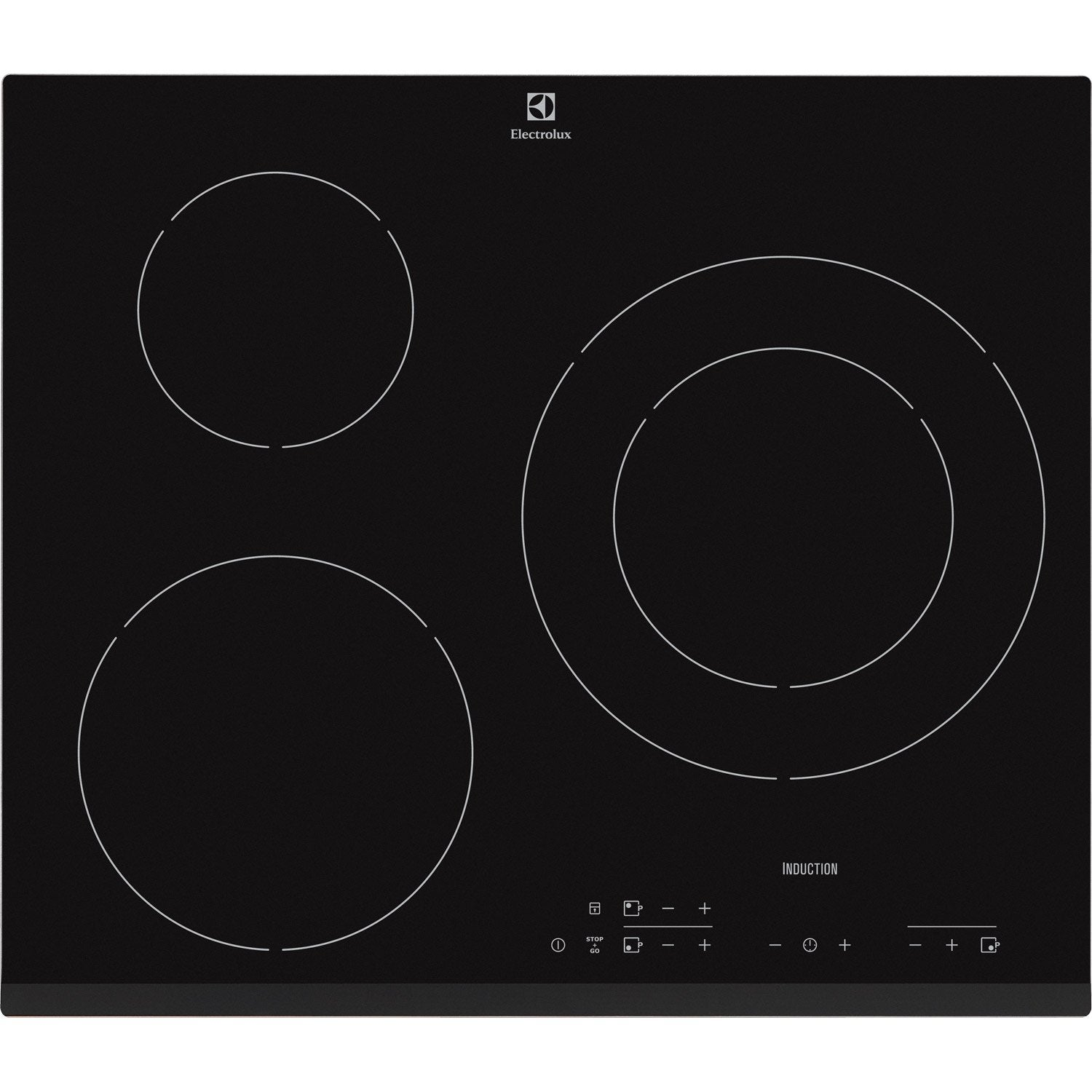 Plaque induction 3 foyers noir electrolux e6223hfk - Electrolux ehl7640fok table induction ...
