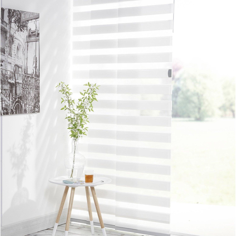 kit complet panneaux japonais et rail inspire blanc blanc. Black Bedroom Furniture Sets. Home Design Ideas