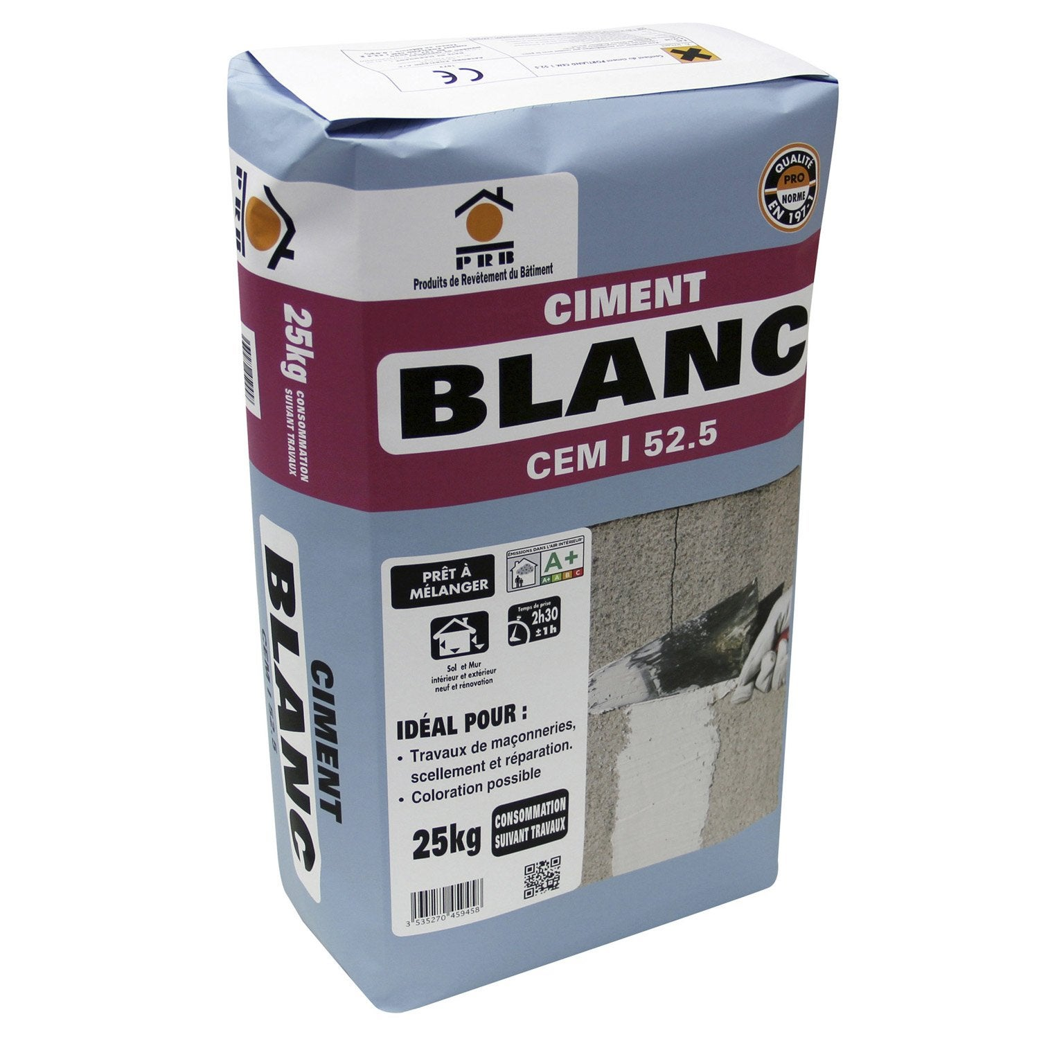 Ciment blanc ce prb 25 kg leroy merlin - Dosage mortier chaux ciment sable ...