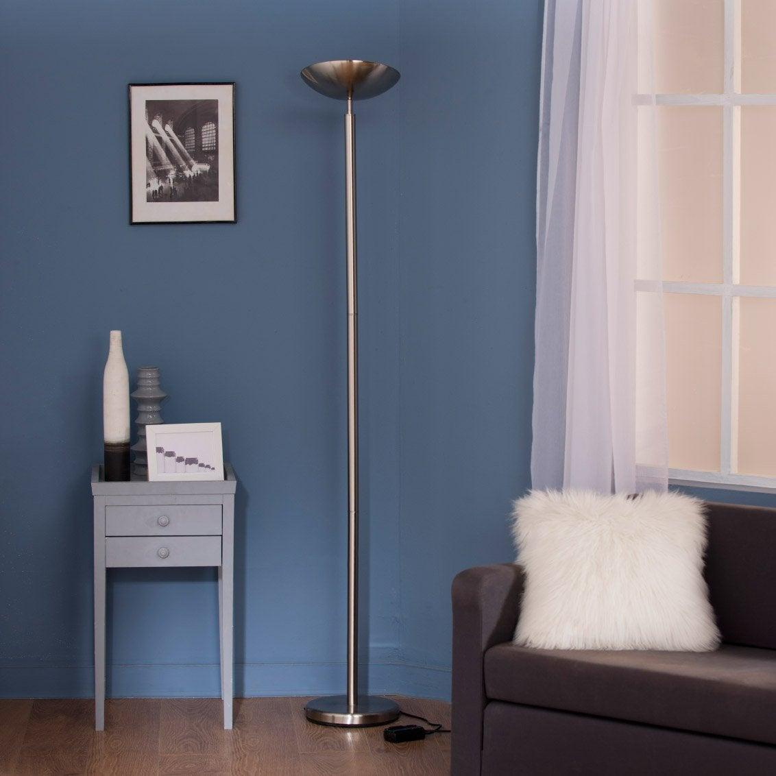 Lampe Bois Leroy Merlin : Lampadaire Color INSPIRE, 184 cm, gris, 230 W Leroy Merlin