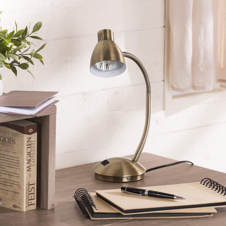 lampe de bureau gu10 poser dor odessa leroy merlin. Black Bedroom Furniture Sets. Home Design Ideas