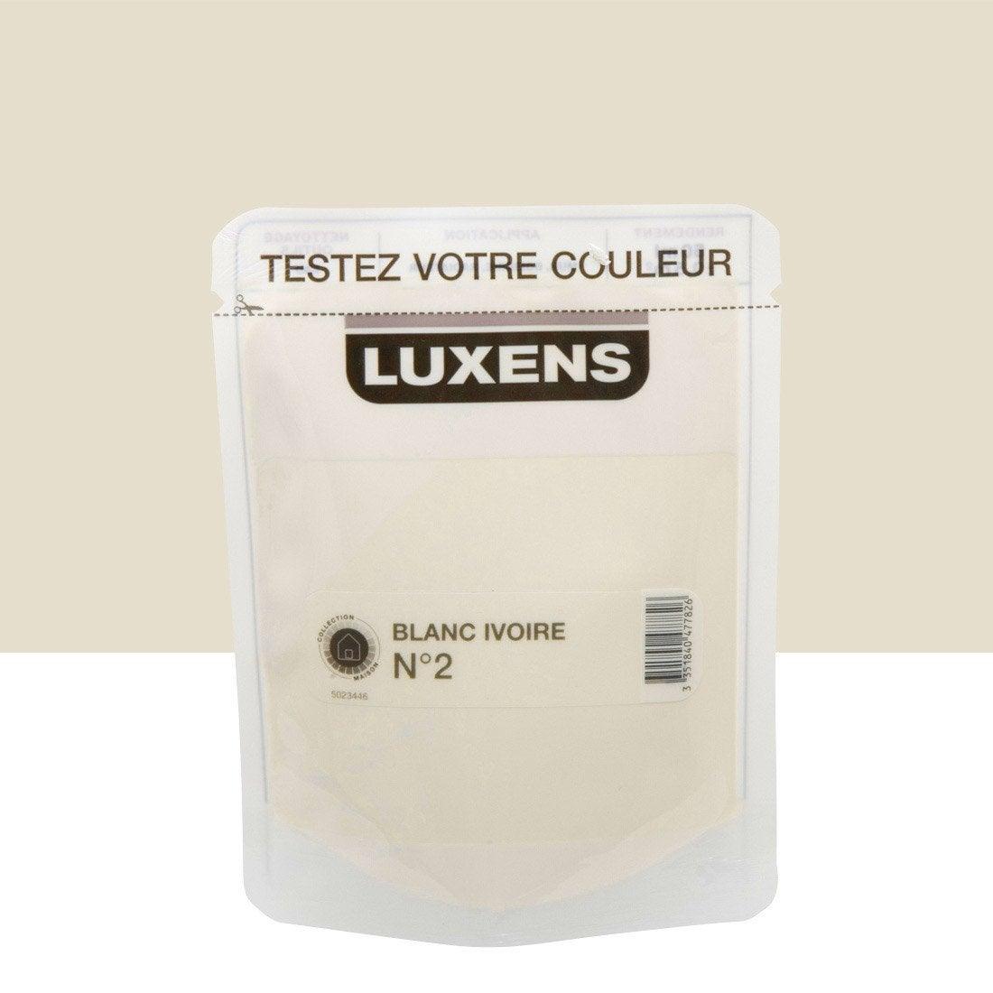 Testeur peinture couleurs int rieures satin luxens blanc - Peinture luxens blanc satin ...