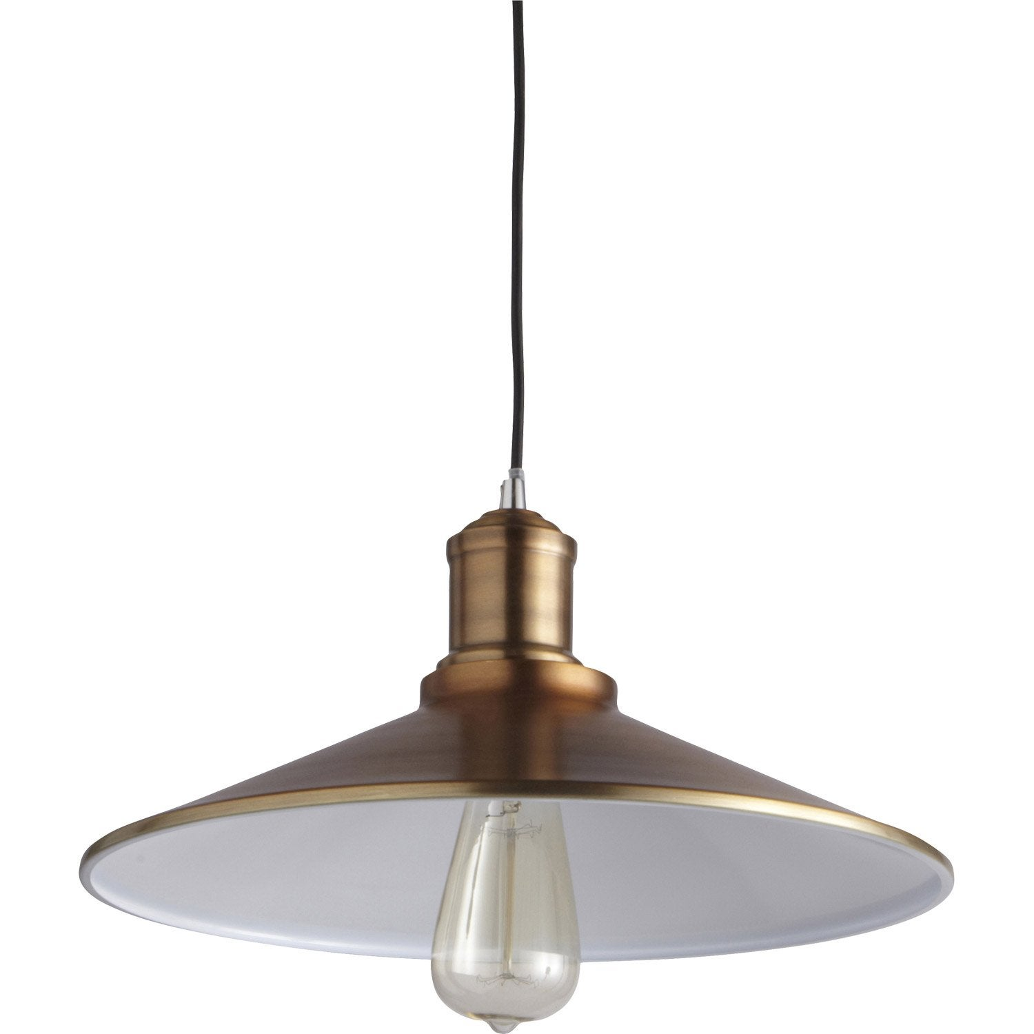 Suspension classique cornouaille m tal m tal antique 1 x 60 w boudet leroy - Suspension new york leroy merlin ...